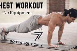 CHEST WORKOUT HOME ROUTINE | BODYWEIGHT EXERCISES | Rowan Row