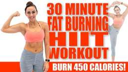 30 Minute FAT-BURNING HIIT WORKOUT! Burn 450 Calories
