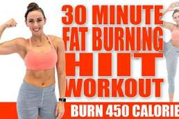 30 Minute FAT-BURNING HIIT WORKOUT! Burn 450 Calories
